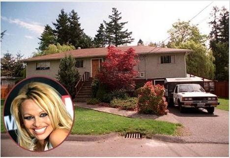 PAMELA ANDERSON  Fırın tamircisi bir baba ile garson bir annenin kızı olan Anderson, Kanada'da bu evde büyüdü.