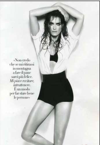 Amerikalı oyuncu Brooke Shields, dünyaca ünlü yaşam dergisi Vanity Fair'in İtalya baskısı için objektif karşısına geçti.