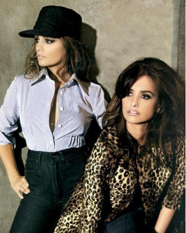 PENELOPE-MONICA CRUZ:  İspanyol kardeşler Penelope ile Monica Cruz, moda ve sinema dünyasındaki başarılarıyla dikkat çekiyor. Tom Cruise'la başrolü paylaştığı 'Vanilla Sky' adlı filmle dünya çapında üne kavuşan Penelope Cruz, kardeşi Monica ile birlikte en son ünlü moda firması Mango tasarımlar hazırlamıştı.
