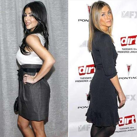 En güzel popo!Kim Kardashian - Jennifer Aniston  Kim Kardashian Jennifer Aniston