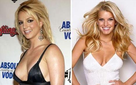 En güzel saçlar!Britney Spears - Jessica Simpson  Britney Spears  Jessica Simpsons