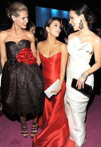 Heidi Klum, Eva Longoria Parker ve Kate Beckinsale.