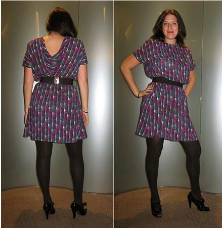 Aynı elbisenin sırt dekolteli ve daha kısa modeli tercih edilebilir.