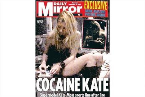 Kate Moss'un kokain alemindeki bu görüntüleri de tam 300 bin dolara satılmıştı.