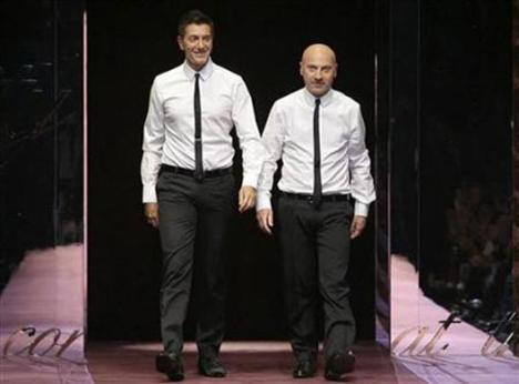 İtalyan tasarıcılar Domenico Dolce ve Stefano Gabbana