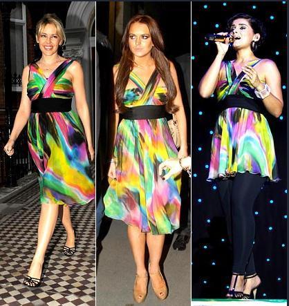 Kylie Minoque - Lindsay Lohan - Nelly Furtedo
