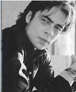 Porto Riko doğumlu aktör Benicio Del Toro biraz esmer ve biraz daha yapılı ama Pitt'in ikizi gibi görünüyor.