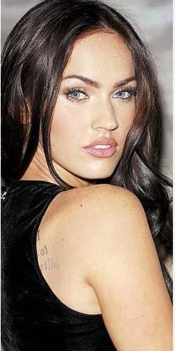 Bu yıldız Megan Fox'tan başkası değil.Hatta genç yıldız bir ara Jolie'nin rakibi olarak lanse edilmişti.