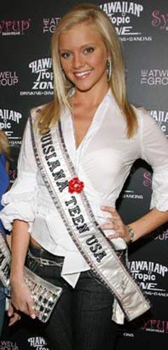 ABD'de, Louisiana gençlik güzeli seçilen 18 yaşındaki Lindsey Evans, bir lokantadan hesap ödemeden ayrıldığı ve üzerinde esrar taşıdığı gerekçesiyle, tacını kaybetti.