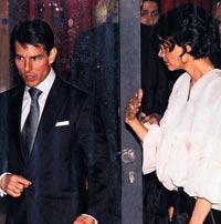 Eşi Tom Cruise'un azarı karşısında Katie Holmes,  sakinleşmesini bekledi.