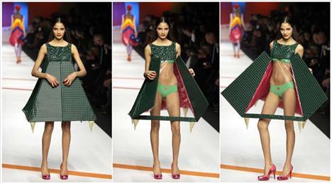 Ünlü İspanyol tasarımcı Agatha Ruiz de la Prada, Milano'da 2009 2010 kış koleksiyonunu tanıttı