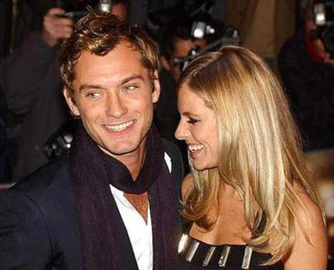Jude Law ve altadılan nişanlı Sinenna Miller