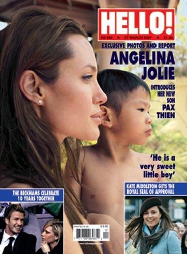 Angelina Jolie ve evlatlık çocuğu Pax'in fotoğrafı 13 milyon euro