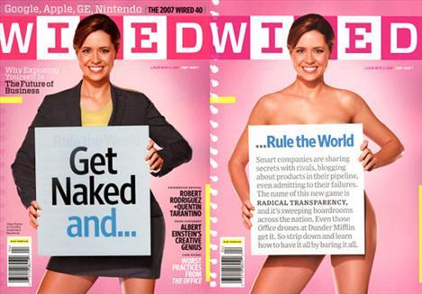 Jenna Fisher Wired isimli dergiye çıplak poz veren Fisher bu pozu verdiği için aslında pişman görünüyor. 'Aileme bu fotoğrafı nasıl gösteririm?' şeklinde düşüncelere sahip olan Fisher'ın bu fikri ne kadar doğrudur bilemeyiz ama çıplaklığın kendisine yakıştığı görünen bir gerçek.
