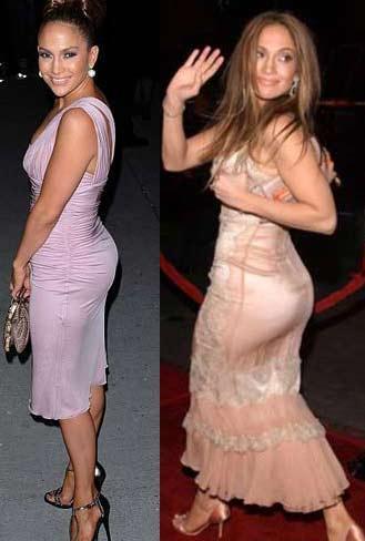 Milan'da yapılan Dolce&Gabbana moda şovuna katılan Jennifer Lopez bu kez küçülen kalçalarıya dikkat çekti.İkizlerinin doğumundan sonra sıkı egzersiz programı uygulayan Lopez'in kendisini ünlü eden vücut hatlarını kaybettiği ifade edildi