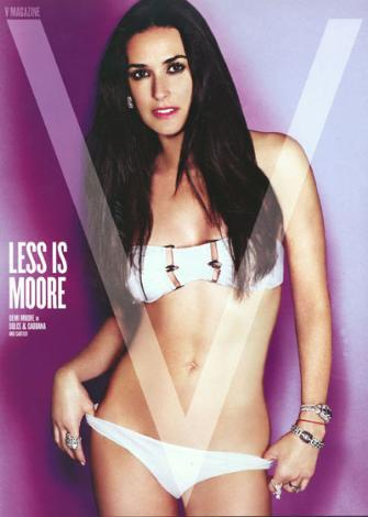 Demi Moore, 3 çocuk dünyaya getirde ve 46 yaşında.  Demi Moore