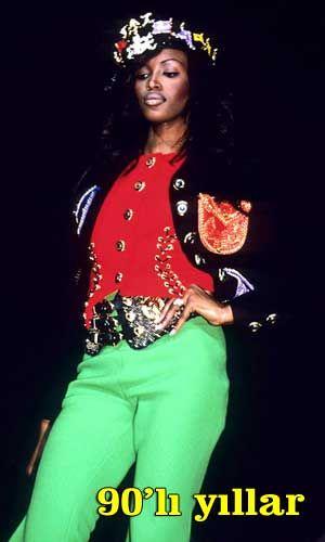 Naomi Campbell o yıllarda oldukça farklı görünüyor...