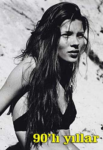Kate Moss bu fotoğrafta ise sadece 14 yaşında...