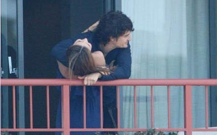 Miranda Kerr ve Orlando Bloom.
