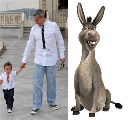 Mehmet Ali Erbil Shrek filminde Eşek'i seslendirdi....