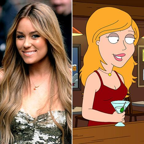 Louren Conrad Family Guy'da kendi karakterini seslendirdi...