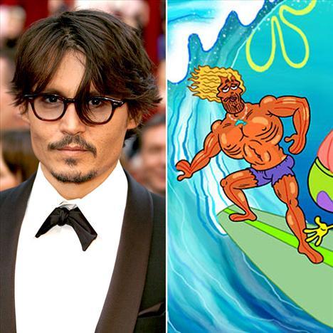 Johnny Deep Sponge Bob'da sörfçü Kahuna Laguna'yı seslendirdi..