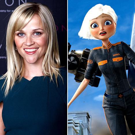 Reese Witherspoon Yaratıklar canavarlara karşı'da Ginormica'yı seslendirdi...