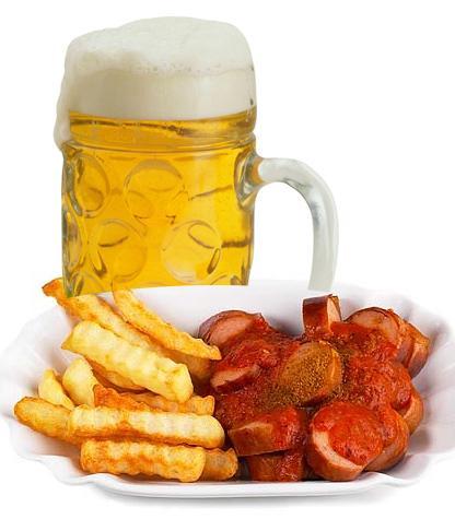 3 adet sosis kızartma + 1 tabak patates kızartması + 2 kutu bira = 800 - 900 kalori  Yüksek yağlı bir seçim. Yaz boyunca çok sık tekrar etmemekte fayda var, sosisi çok sevenler ızgara veya haşlama yapıp üzerine bol domates sosu ekleyebilir. Biranın alkol oranı düşüktür ama her gün tüketilmesi uygun olmaz.