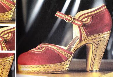 1947 yılında Sarkis Der Balian isimli tasarımcı tarafından yaratılmış kırmızı saten ayakkabı.