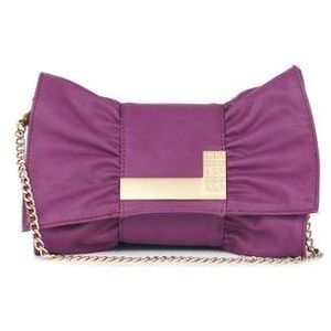 Purple 'Mimi' small clutch bag