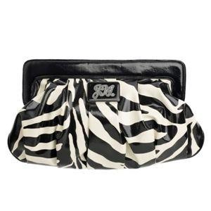 Star By Julien Macdonald Black Zebra Frame Clutch Bag