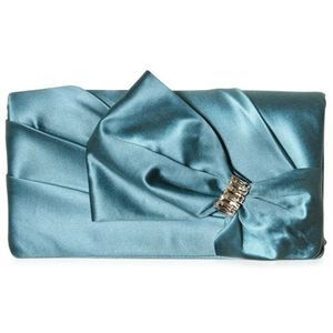 Dsquared-satın bow jewel clutch