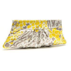 Lauren Merkin - Yellow Leopard Silk Satin Eve