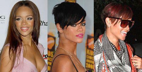 Rihanna'nın saç modeli şimdiye kadar neredeyse her ay değişti...