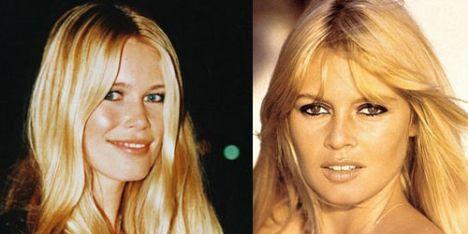 Claudia Schiffer-Brigitte Bardot: Alman model Schiffer ile Fransız aktris arasındaki benzerlik dikkat çekiyor.