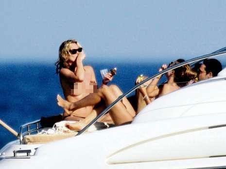 Kate Moss kokain çekerken kızıda yanındaydı...