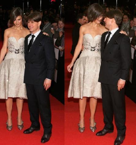 Tom Cruise 1.70 cm boyunda eşi Katie Holmes'un boyu ise 1.80 cm.