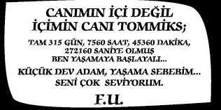 """Dün Hürriyet Gazetesi'nin 29'uncu sayfasında ilginç bir ilan göze çarptı. """"F.U."""" imzalı ilanın sahibi ise Fulden Uras'tı. Ünlü şarkıcı, bu ilanı sevgilisi için verdiğini söyledi."""