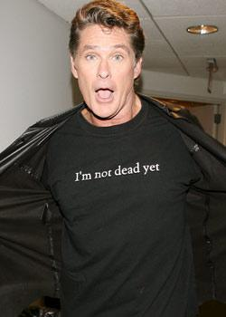 "David Hasselhoff  ""Henüz ölmedim"""