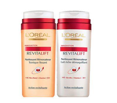Pürüzsüz Bir Cilt L'OreaI'in yeni Revitalift serisinde yer alan zengin makyaj temizleme sütü, formülündeki Glycoliss peeling etkisiyle cildi anında nemlendirerek ışıltı veriyor ve C vitaminiyle canlandırıyor. Serinin diğer ürünü pürüzsüzleştirici tonik ise, fiber-elastyl ile zenginleştirilmiş formülü sayesinde cilde elastikiyet kazandırıyor.