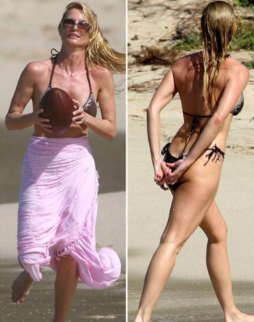 Nicolette Sheridan Umutsuz Ev Kadınları dizisinin yıldızı Sheridan da 1964 doğumlu ve hala incecik bikiniler giyebiliyor.