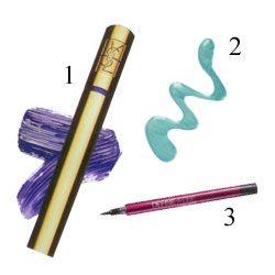 1. YSL, Luxurious in fascinating violet maskara, 59 TL; parfümerilerde  2. Inglot, nail enamel no: 322 oje, 19 TL;   3. Maybelline, line definer eyeliner, 15.50 TL; tüm parfümerilerde.