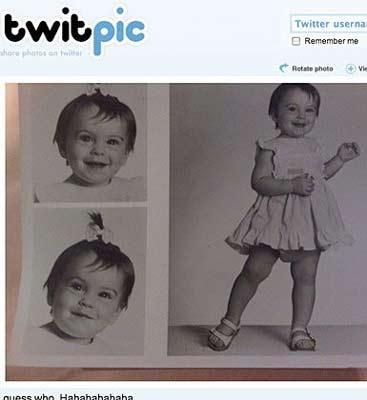 Lindsay Lohan'da Twitter'a çocukluk fotoğrafını koymuş.