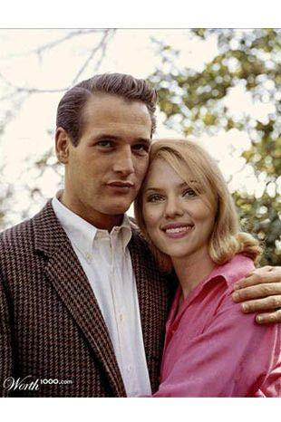 Paul Newman-Scarlett Johansson