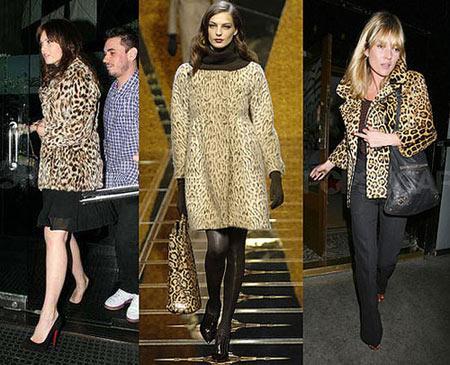 Starlar da leopar sever! Bu resimde Kate Moss ve Mandy Moore'un üzerlerindeki leopar desenli blazer ceket aynı. Fakat iki ünlü de bu ceketi farklı tarzlarda kıyafetlerle kombinlemiş. Kate Moss siyah bir denim pantolon ve casual bir çanta tercih edip sportif bir şıklık sergiliyor. Mandy Moore da siyah gece elbisesinin üzerine giyerek, davetlerin vazgeçilmez kurtarıcısı harika bir kombin elde etmiş.