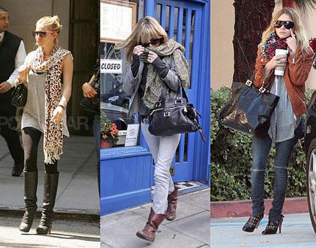 Starlar da leopar sever! Leopar desenini kullanmak istiyorsunuz ama çanta, ayakkabı ve hatta elbise ve pantolon fikri size hiç sıcak gelmiyor. O zaman leopar ve zebra desenli şalları deneyebilirsiniz. Kate Moss ve Ashley Olsen'i örnek alın mesela...