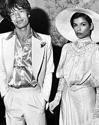 Mick Jagger ve Bianca Jagger  Rolling Stones'un çılgın üyesi Mick Jagger yaşadığı aşkların ardından ilk evliliğini Bianca Jagger ile yaptı.