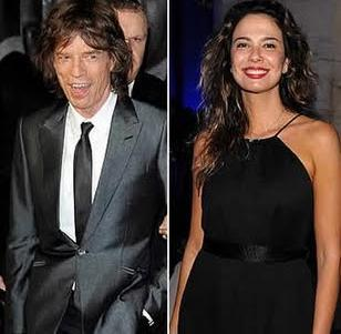 Mick Jagger ve Luciana Gimenez.