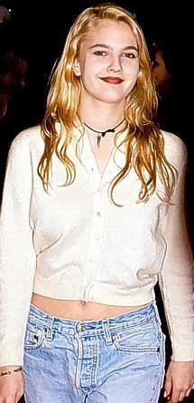 Drew Barrymore 16 yaşındayken çekilen bir fotoğraf.