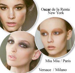 Miu Miu'da bej genel ve pürüzsüz bir mükemmelliğin ifadesi gibi.   Buna karşın, Versace'de gece kadar karanlık gözlerini aydınlatan pembemsi bej dudaklar, parlaklığı ve dolgunluğuyla modern kadının en önemli baştan çıkarma silahı...   Oscar de la Renta'da ise gündüz kullanımlarında az parlatıcı öne çıkıyor. İşte bej kimileri için geri gelmişken, kimileri için hiç gitmemiş gibi...